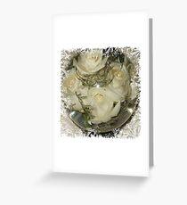 Flower Aquarium With White Roses Greeting Card