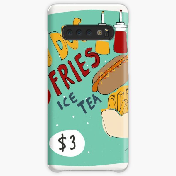 Hotdog with french fries and ice tea Samsung Galaxy Snap Case