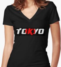 Simplistic Tokyo Women's Fitted V-Neck T-Shirt