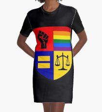 Social Justice Warrior Graphic T-Shirt Dress