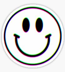 Trippy Smiley Face Sticker