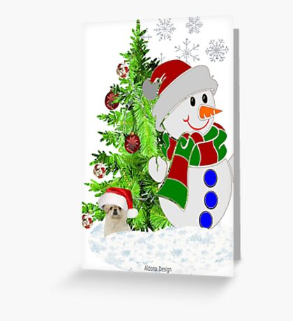 Lets build a Snowman Greeting Card