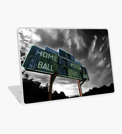 Old Baseball Scoreboard - The Diamond- Greenham Laptop Skin