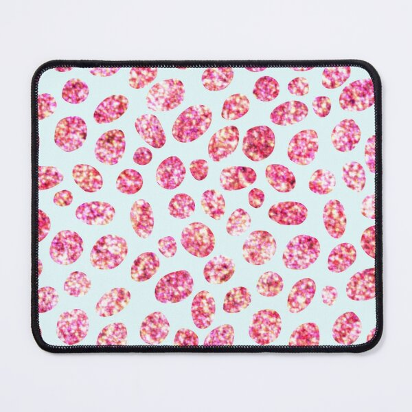 Pink Abstract Pattern Mouse Pad