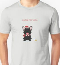 Frenchie Waiting for Santa - Black Edition T-Shirt