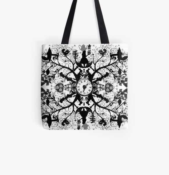 Think Wonderland Ink  All Over Print Tote Bag