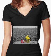 Woodstock at Woodstock Women's Fitted V-Neck T-Shirt