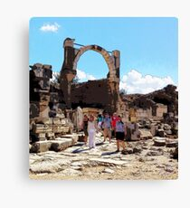 Traveling Through Time, Photo / Digital Painting  Canvas Print