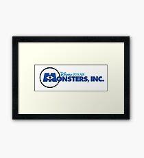 Monsters INC. Framed Print