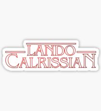Stranger Things: Lando Calrissian Logo Sticker