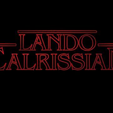Stranger Things: Lando Calrissian Logo by vennybunny