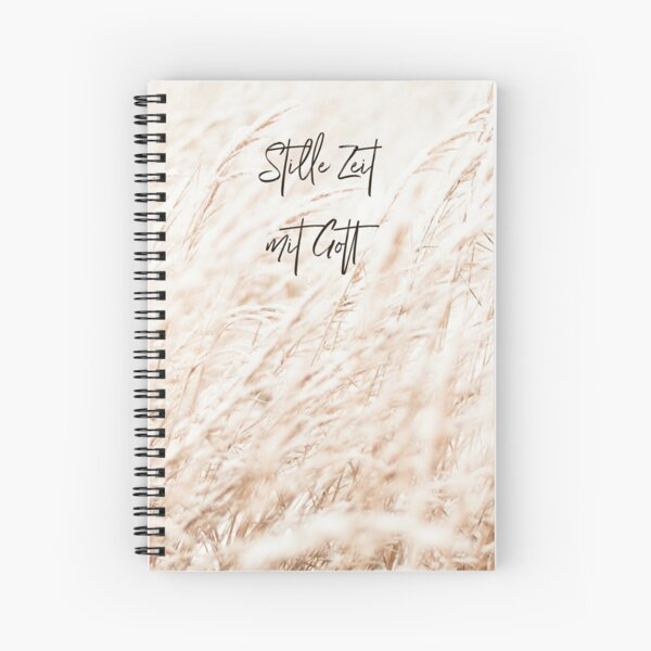 Quiet time with God Spiral Notebook