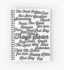Troye Sivan songs Spiral Notebook