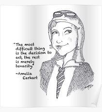 Amelia Earhart - Tenacity Poster
