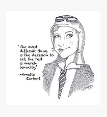 Amelia Earhart - Tenacity Photographic Print