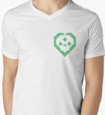 SKULL HEART (LIGHTGREEN) V-Neck T-Shirt