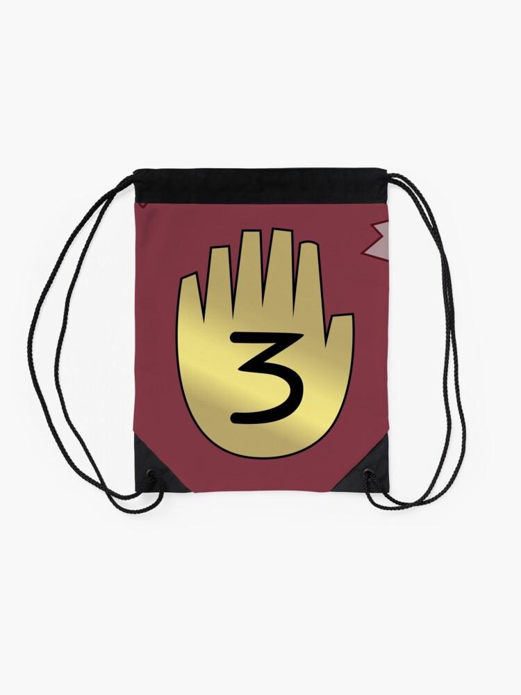 Alternate view of Gravity Falls // Journal 3 Drawstring Bag