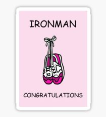 Ironman congratulations for a lady. Sticker