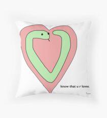 Snek Heart - Tiny Snek Comics Throw Pillow