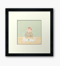 Just eat Framed Print