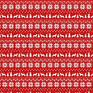 Smooth Fox Terrier Silhouettes Christmas Sweater Pattern by Jenn Inashvili