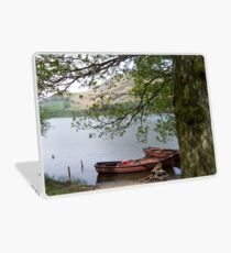Boats on a lake in Cumbria Laptop Skin
