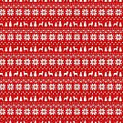 Toy Fox Terrier Silhouettes Christmas Sweater Pattern by Jenn Inashvili