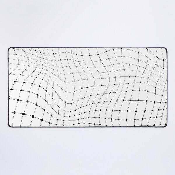 Black dot 3D pattern Desk Mat