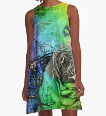 Abstract music A-Line Dress