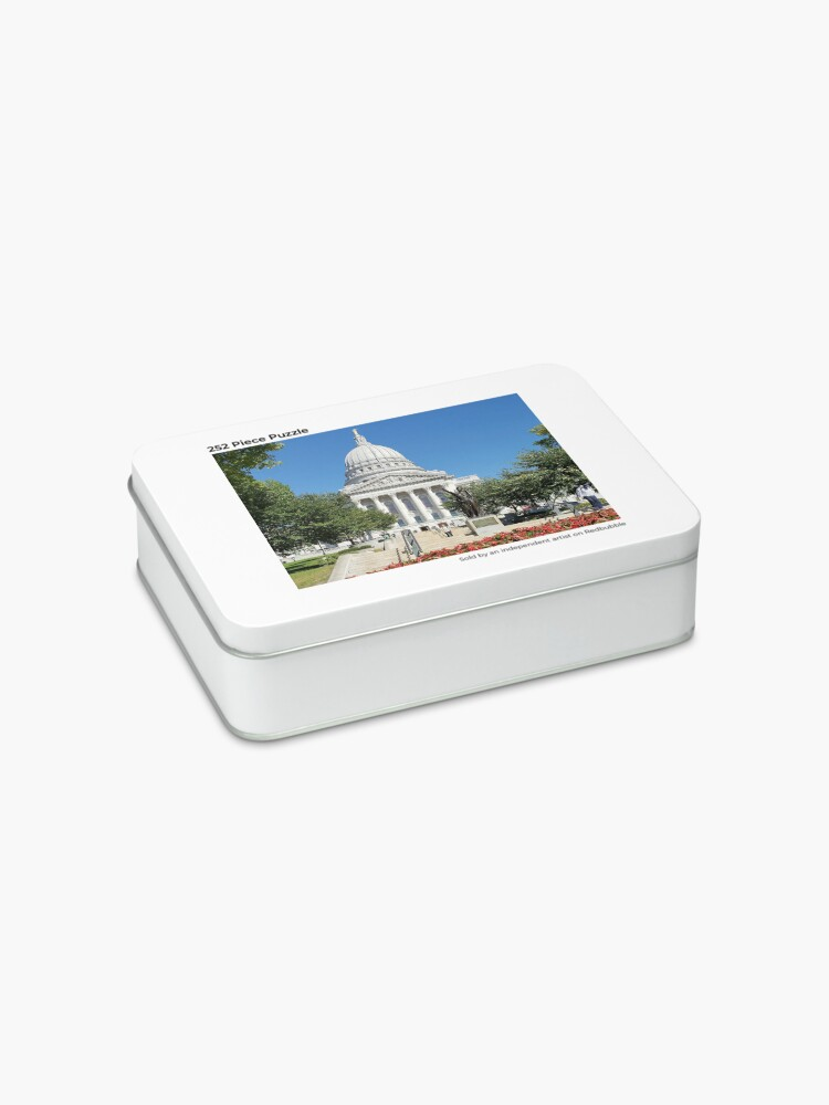 Alternate view of Capitol Building Madison Wisconsin from State Street Jigsaw Puzzle