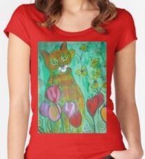 Green Cat Women's Fitted Scoop T-Shirt