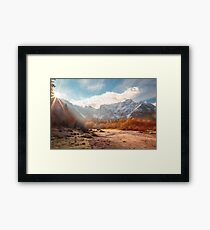 autumn sunrinse in the valley Framed Print