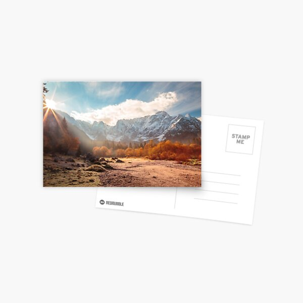 autumn sunrinse in the valley Postcard