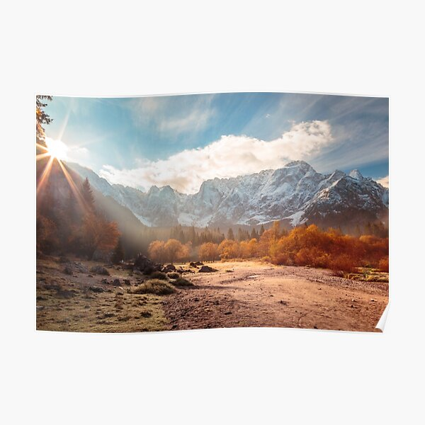 autumn sunrinse in the valley Poster