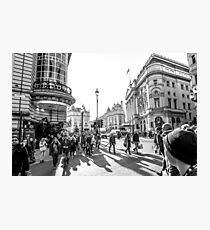 Piccadilly rush Photographic Print