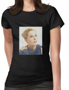 Gillian Anderson portrait Womens Fitted T-Shirt