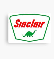 Oil lubricant Vintage Sinclair logo Canvas Print