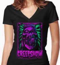 Creepshow T shirt design Women's Fitted V-Neck T-Shirt