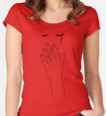 smoking cigarette Women's Fitted Scoop T-Shirt