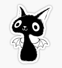 Black Bat-Cat Sticker