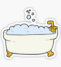 cartoon bathtub Sticker