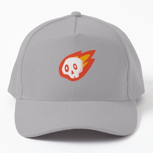 A Friendly Flaming Skull Baseball Cap