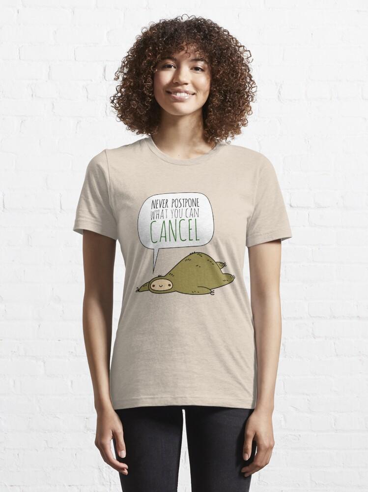 Alternate view of Sloth Wisdom.  Essential T-Shirt