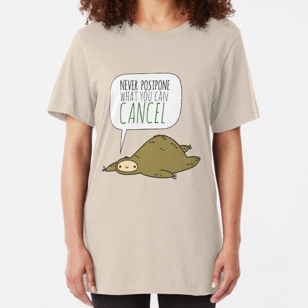 Sloth Wisdom.  Slim Fit T-Shirt