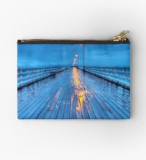 Stormy Shorncliffe Pier in HDR Studio Pouch