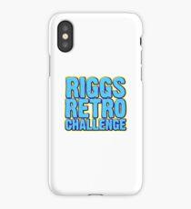 Riggs Retro Challenge Mini-Logo iPhone Case/Skin