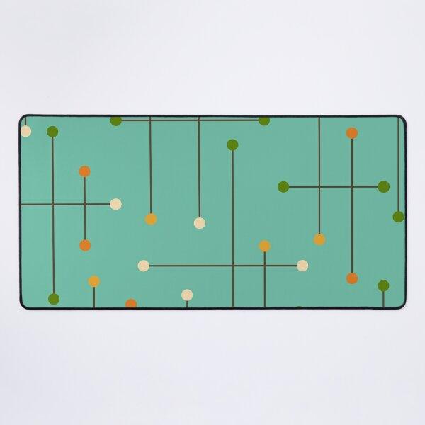 Retro Crosshatch Turquoise Desk Mat