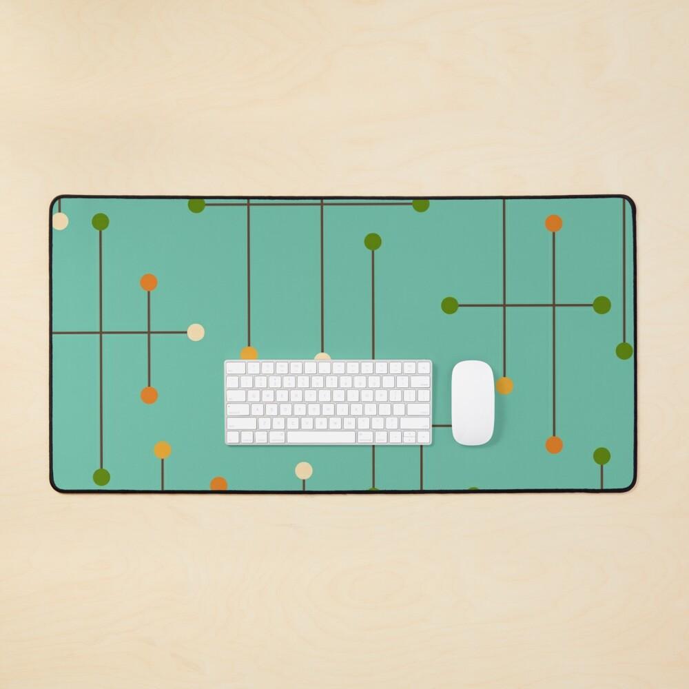 Retro Crosshatch Turquoise Mouse Pad