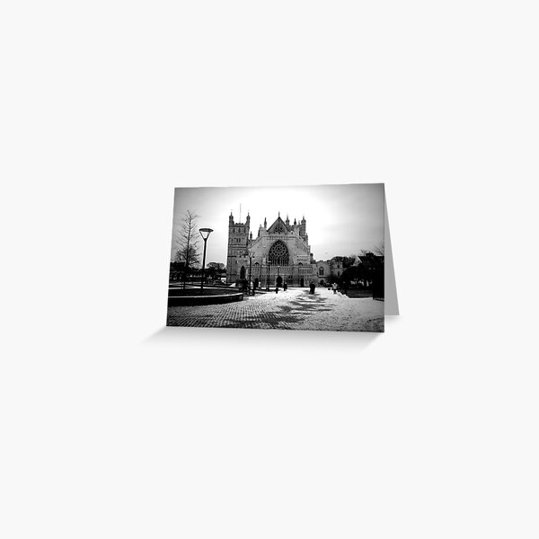 Exeter Cathedral in The Snow Greeting Card