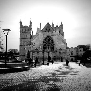 Exeter Cathedral in The Snow by AndyMackay